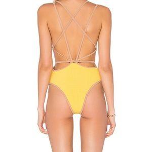 For Love & Lemons Lemon Swim One Piece